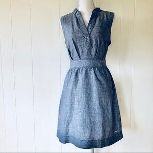 Columbia Sportswear Belted Dress Linen Blend